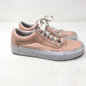 Vans Old Skool Size 7 Off The Wall Pink